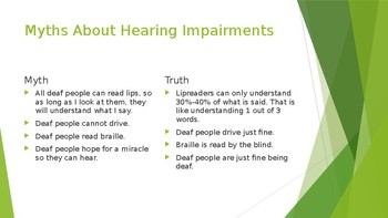 Hearing Impairments PowerPoint