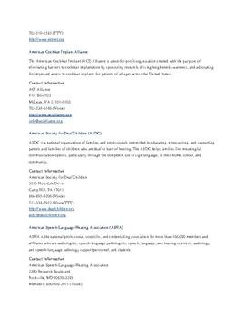 Hearing Loss Organization and Associations List