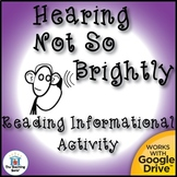 Hearing Loss Reading Informational Activity