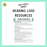 Hearing Loss Resources (Smartphone Apps and more)