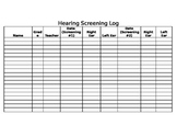 Hearing Screening Log {FREEBIE}