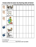 Hearing aid home use reward chart