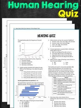 Hearing and Sound Quiz