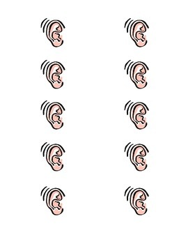 Hearing and Sound Vocabulary Game (Memory)