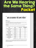 Hearing and Sound Waves Work Packet