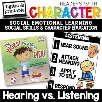 Hearing vs Listening - Character Education | Social Emotional Learning SEL