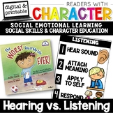 Hearing vs Listening - Character Education | Social Emotional Learning SEL