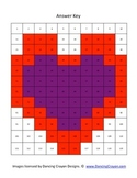 Heart 120 Hundreds Chart Mystery Picture