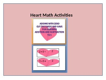 February Heart Addition and Subtraction to 5