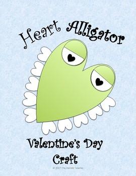 Heart Alligator Valentine's Day Craft