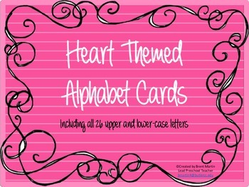 Heart Alphabet Cards