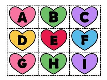 Heart Alphabet Cards