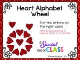 Heart Alphabet Matching Wheel