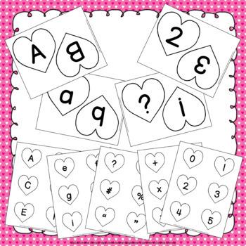 Heart Alphabet & Number Cards