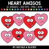 Valentine Heart Faces Amigos Clipart