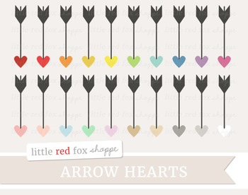 Heart Arrow Clipart; Cupid, Valentines Day