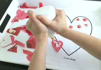 Heart Art for Preschool and Toddlers