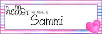 Heart Attack Watercolor Editable Nameplates
