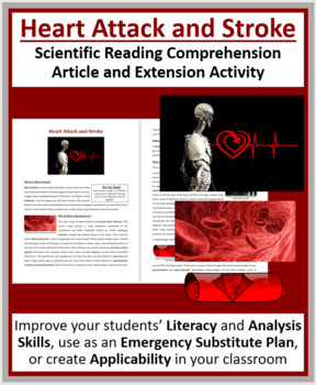 Heart Attack and Stroke - Reading Article - Grade 8 and Up