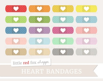 Heart Bandage Clipart; Medical, Baindaid, First Aid