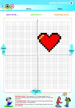 Heart Bites Rotation, Reflection , Symmetry , Translation