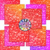 Heart Bokeh Digital Paper Backgrounds