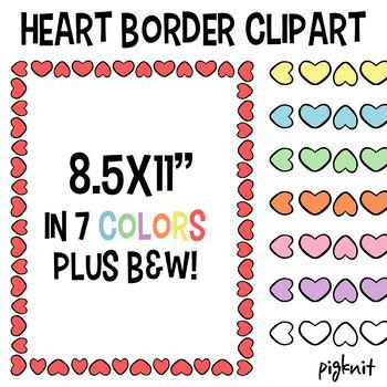 Heart Border Frame Clipart