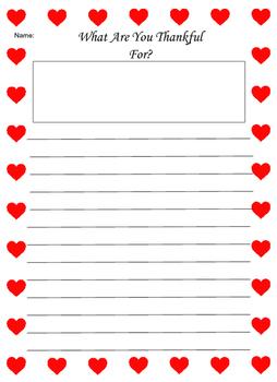Heart Border Writing Paper