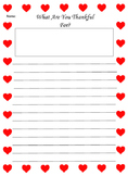 Heart Border Writing Paper