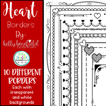 Valentine's Day Heart Borders 1