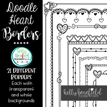 Valentine's Day Heart Borders 2