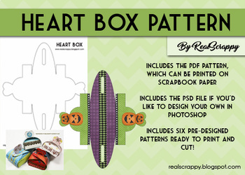 Heart Box Pattern & Photoshop Tutorial