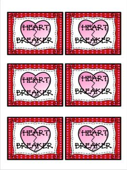 Heart Breaker Sight Word Game