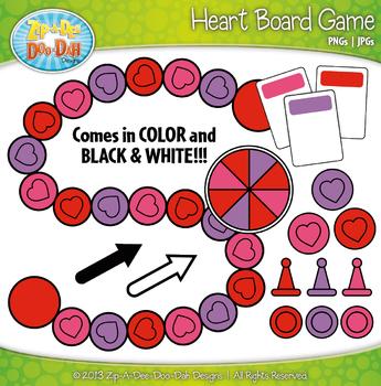Heart Build A Board Game Clipart {Zip-A-Dee-Doo-Dah Designs}