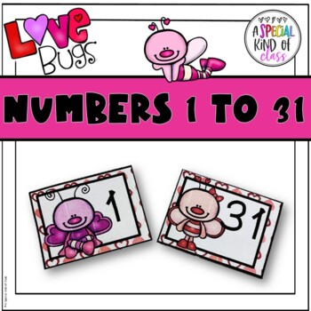 Calendar Numbers: Love bug Valentine - FREEBIE