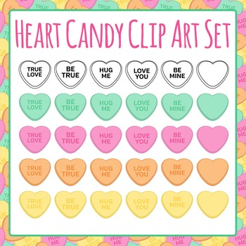 Heart Candy (Great for Sorting) Clip Art Set for Commercial Use