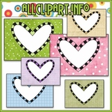 Heart Card Frames - Cheryl Seslar Clip Art