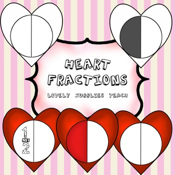 Heart (Circular) Fractions Clip Art