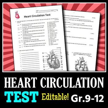 Heart Circulation - Test {Editable}