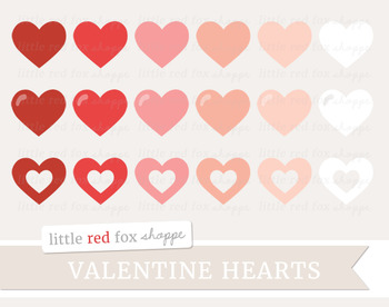 Heart Clipart; Valentines Day, Basic Shape