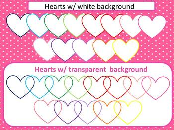 Heart Cliparts set2 for commercial use
