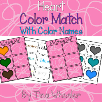 Heart Color Match with Color Names