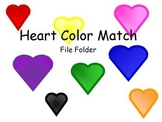 Heart Color Matching File Folder
