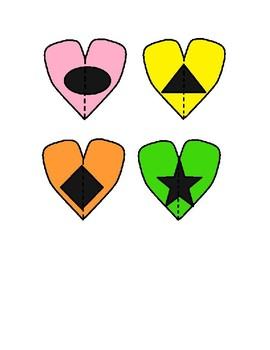 Heart Color & Shape Puzzle for Preschool and Special Education