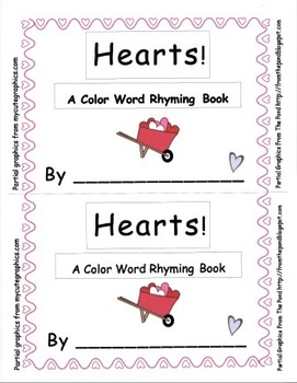 Hearts! A Color Word Emergent Reader