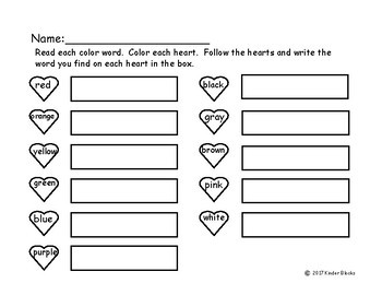 Going On A Word Hunt Heart Style - Pre-primer List
