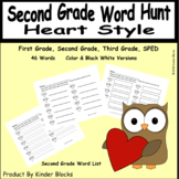 Going On A Word Hunt Heart Style Second Grade