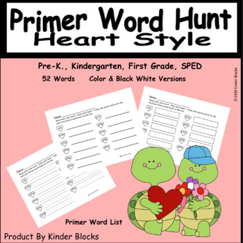 Going On A Word Hunt Heart Style - Primer List