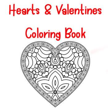 Heart Zentangle and Mandala Coloring Book