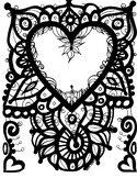 Heart Coloring Page.  Valentine's Day. Just because you Lo
